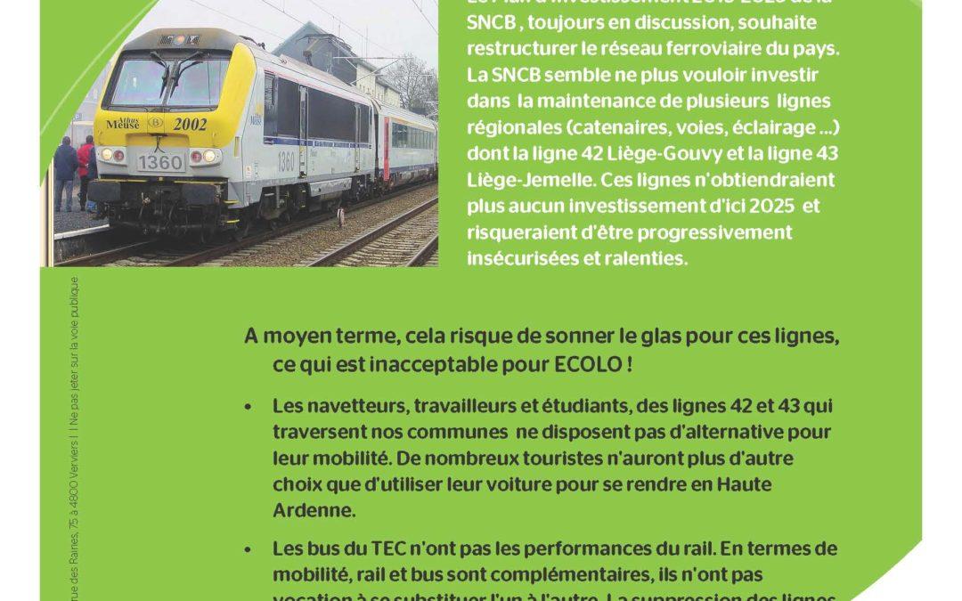 La ligne de train Liège-Gouvy en danger : il est urgent d'agir